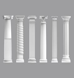 Antique greek pillars greek ancient column vector