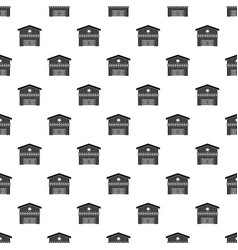 Barn for animals pattern vector