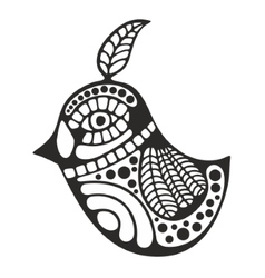 Black and white bird for coloring vector