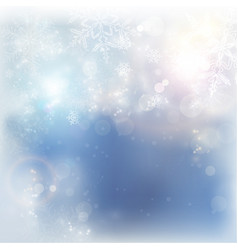 blue white winter christmas snowflake background vector image