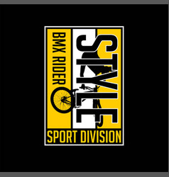 Bmx rider style sport division vector