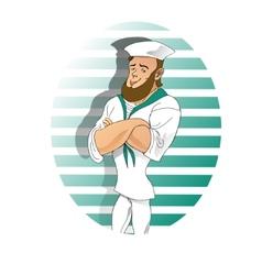 boy sailor cartoon vector image