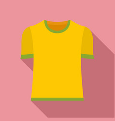 Brazil soccer shirt icon flat style vector