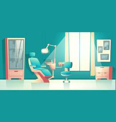 Cabinet dentist orthodontist cartoon vector