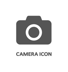 camera icon in flat style isolated on grey vector image