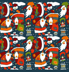 Cartoon christmas wrapping paper vector