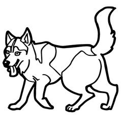 cartoon dog coloring page vector image