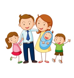 Cartoon Family Portrait vector image