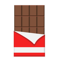 chocolate bar flat icon food and drink vector image