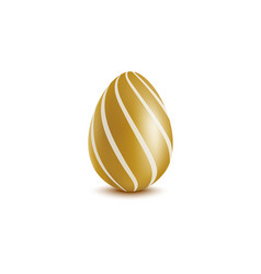 chocolate egg an easter bonbon mockup realistic vector image