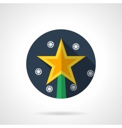 Christmas star round flat icon vector image