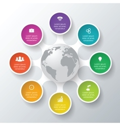 Circle elements for infographic vector