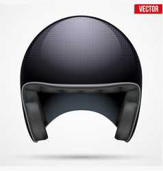 Classic motor carbon helmet model vector