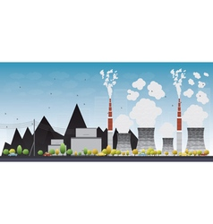 Coal power plant or factory vector