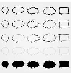 Comic speech bubbles set Different styles Isolated vector image