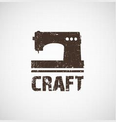 craft logo business idea vector image