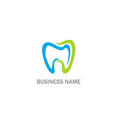 dental tooth business logo vector image