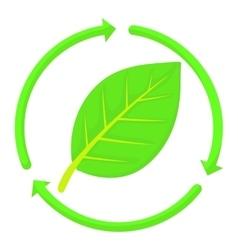 Ecology icon cartoon style vector image