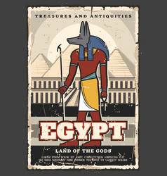 Egypt ancient culture and travel anubis god vector