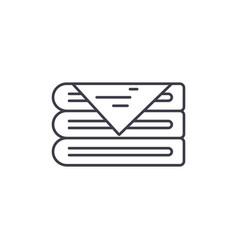 Fabrics line icon concept fabrics linear vector
