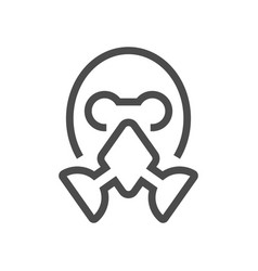 face masks icon vector image