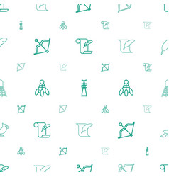 Feather icons pattern seamless white background vector