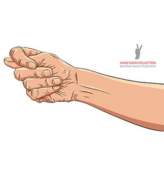 Fig fico hand sign detailed vector image