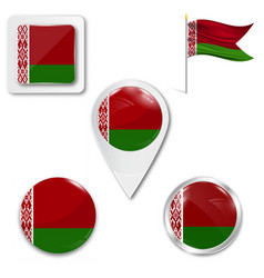 Flag belarus accurate dimensions elements vector