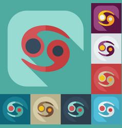 Flat modern design with shadow icons cancer vector