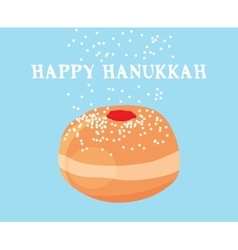 Funny hanukkah card jewish holiday vector
