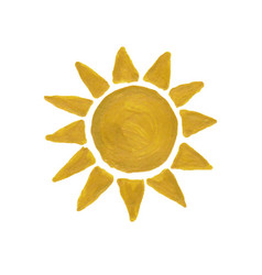 Golden watercolor sun vector