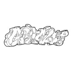 Graffiti urban art vector