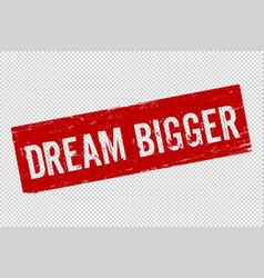 Grunge red dream bigger square vector