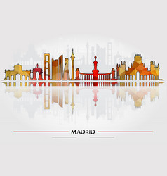 historic buildings of madrid vector image