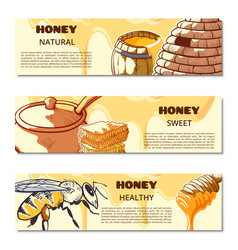 honey mock up banner vector image
