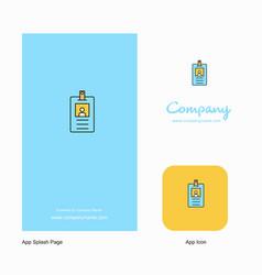 id card company logo app icon and splash page vector image