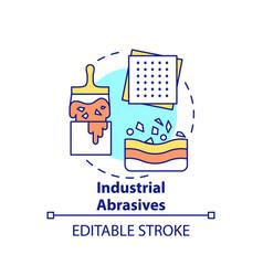 Industrial abrasives concept icon vector