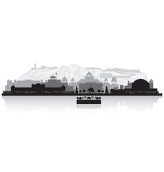 Jaipur India city skyline silhouette vector image