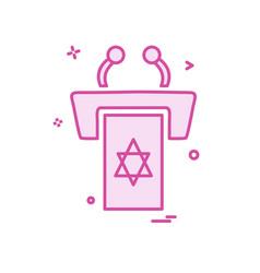 jewish rostrum icon design vector image