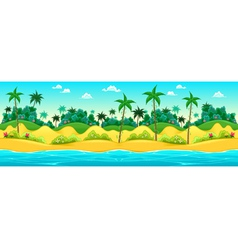 landscape on seashore vector image
