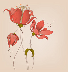 Lily flowers background vector