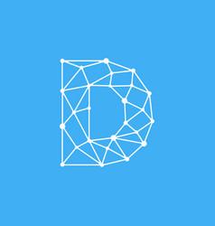logo letter d dots lines vector image