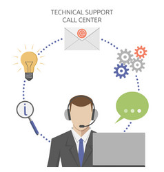 man in technical support vector image