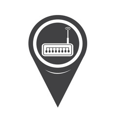 map pointer router icon vector image