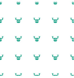 Medical drone icon pattern seamless white vector