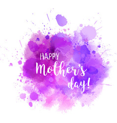 mothers day purple blot vector image