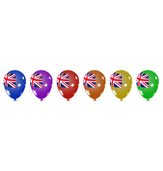multicolored helium balloons for the australian vector image