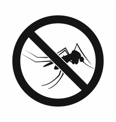 No mosquito sign icon simple style vector