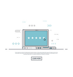 online rating laptop concept vector image