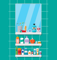 Oral care and hygiene products vector